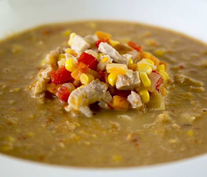 Chicken, Chilli and Sweet Potato Chowder with Camp Coffee